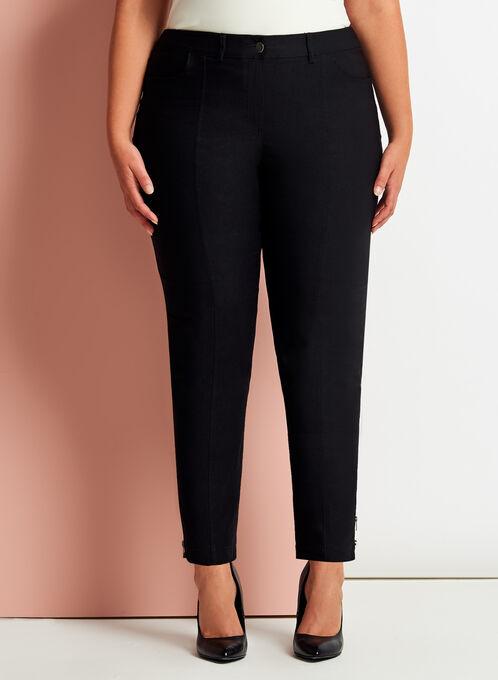 Signature Fit Slim Leg 7/8 Pants, Black, hi-res