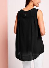 Sleeveless High-Low Blouse  , Black, hi-res