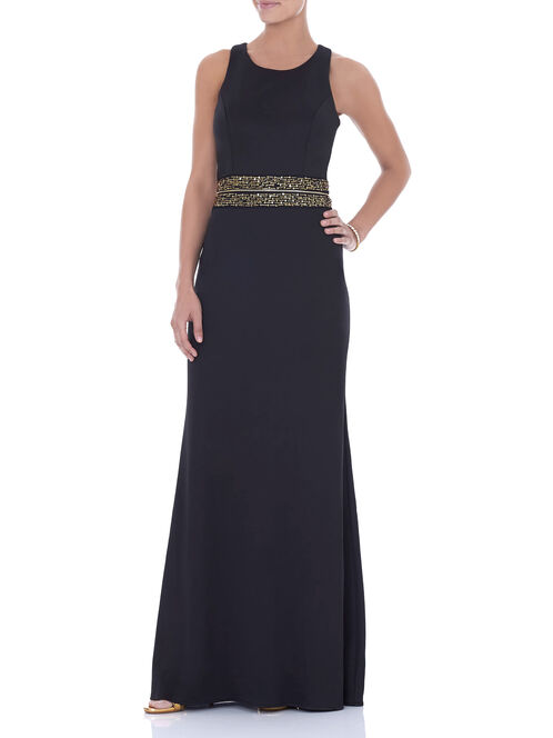 Scuba Convertible Two Piece Dress, Black, hi-res