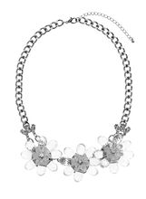 Beaded Floral Necklace, , hi-res