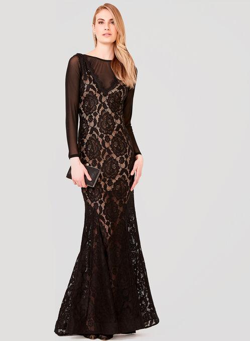 Under Dress Long Sleeve Camisole, Black, hi-res