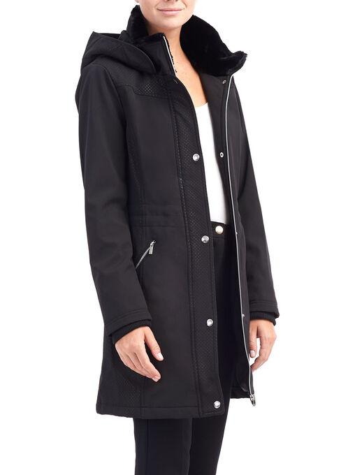 Softshell Hooded Jacket, Black, hi-res