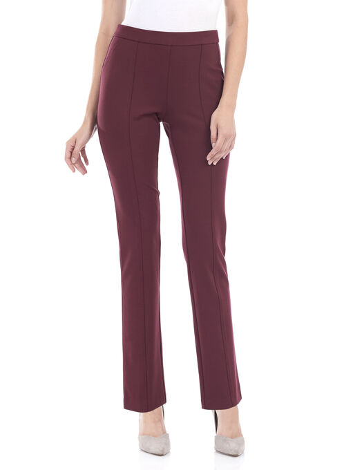 Modern Fit Straight Leg Pants, Red, hi-res