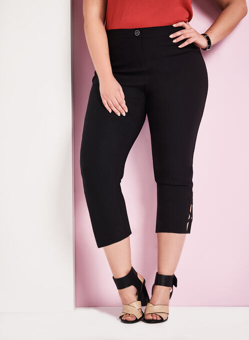 Signature Fit Bengaline Capris, Black, hi-res