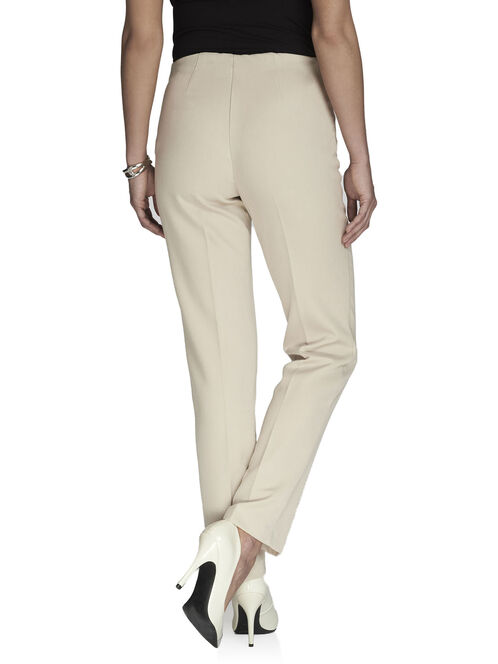 Modern Fit Angled Zip Straight Leg Pants, Off White, hi-res