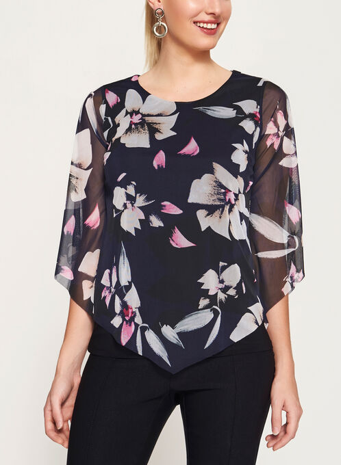 Floral Print Double Layer Top