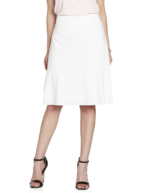 Faux Wrap Flounce Skirt, Off White, hi-res