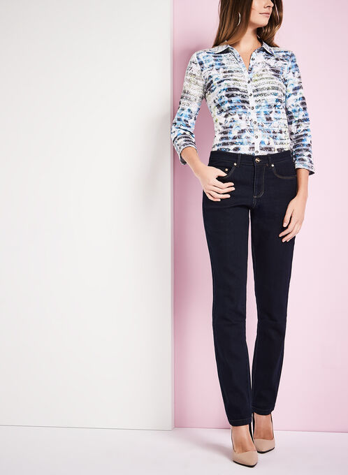Vex Straight Leg Jeans , Blue, hi-res