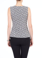 Sleeveless Twist Detail Top, Grey, hi-res