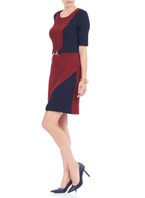 Short Tulip Hem Knit Dress, Red, hi-res