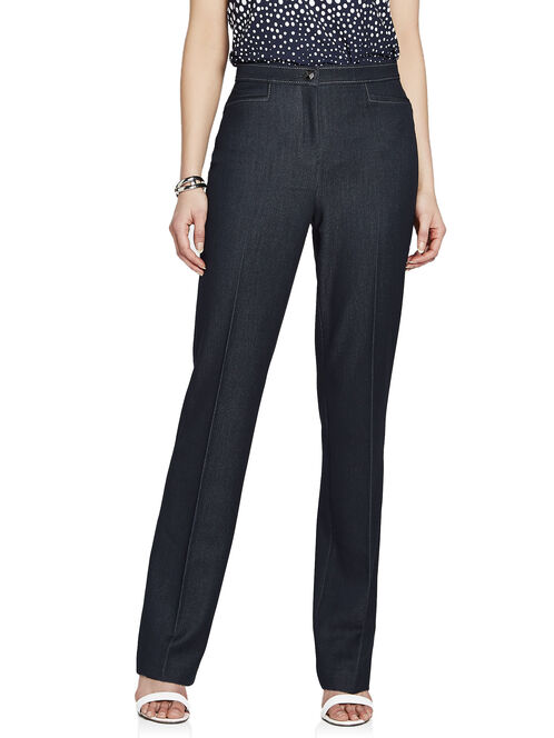 Signature Fit Straight Leg Denim Pants, Blue, hi-res