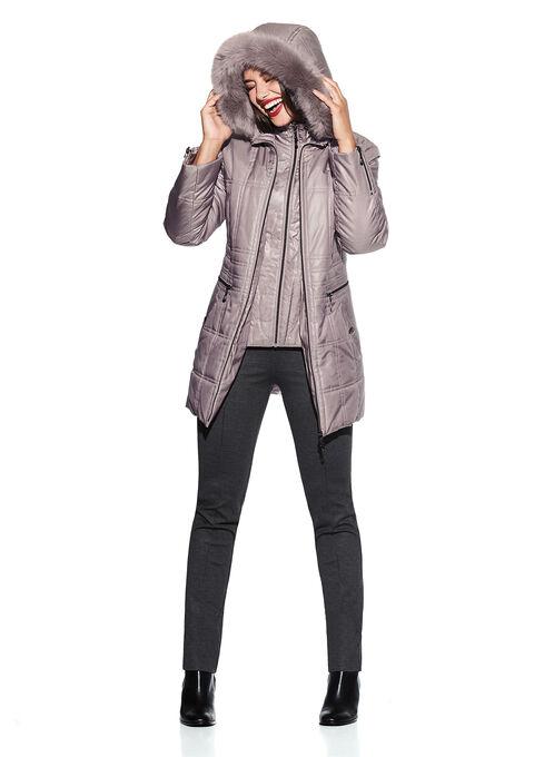 Marcona Hooded Coat , Pink, hi-res