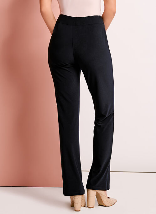 Straight Leg Pull-On Pants, Blue, hi-res