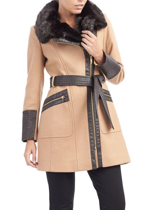 Via Spiga Wool Coat, Brown, hi-res