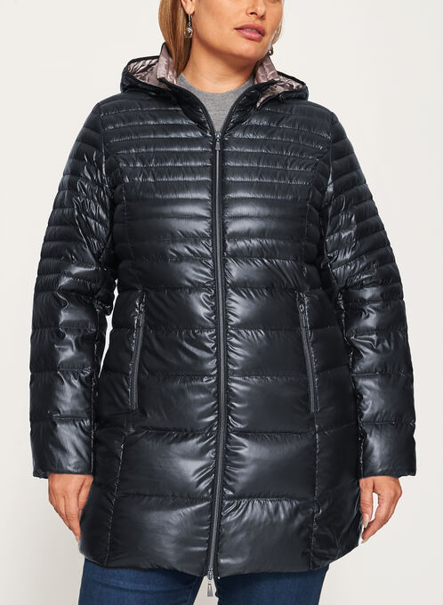 Nuage - Lightweight Packable Down Coat, Black, hi-res