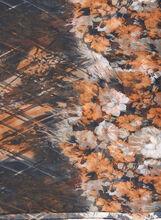 Floral Print Oblong Scarf, Brown, hi-res