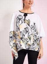 Floral Print Poncho Blouse, , hi-res