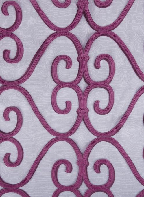 Sheer Jacquard Evening Wrap, Purple, hi-res