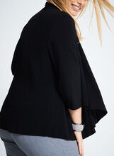 Jersey Elbow Sleeve Cover-Up, Black, hi-res