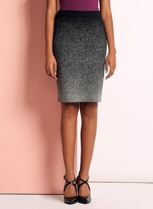 Jersey Knit Pencil Skirt, Grey, hi-res