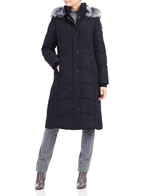 Novelti Faux Fur Thinsulate™ Coat , Black, hi-res