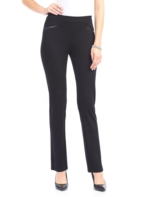 Knit Slim Leg Pant, Black, hi-res