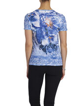 Short Sleeve Sequined T-Shirt, White, hi-res