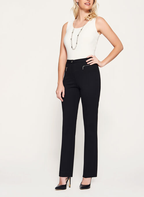 Signature Fit Ponte Straight Leg Pants