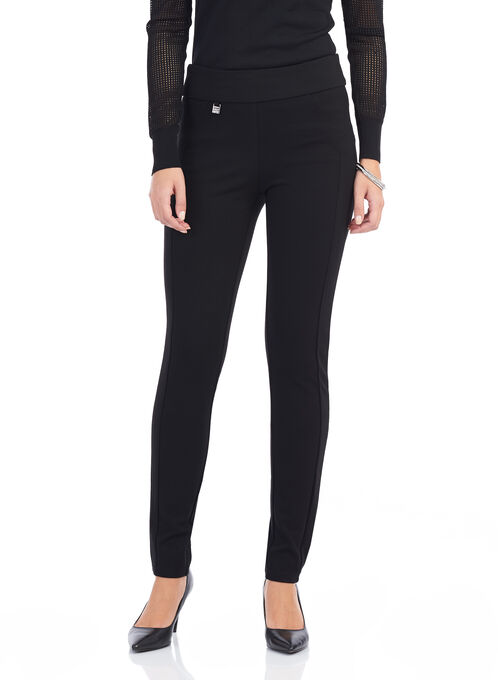 Simon Chang Ponte Slim Leg Pants , Black, hi-res
