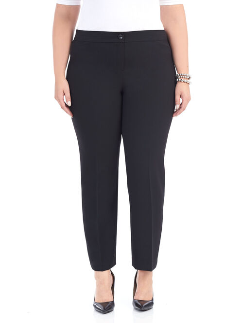 Straight Leg Modern Cut Pants , Black, hi-res