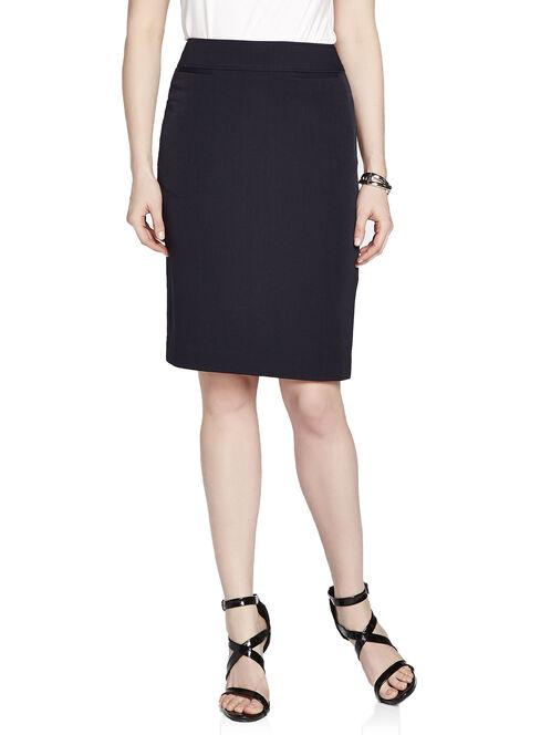 Faux Welt Pocket Pencil Skirt, Blue, hi-res