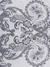 Geometric Print Pashmina Scarf , Silver, hi-res