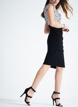 Sequined Cowl Neck Dress, Black, hi-res