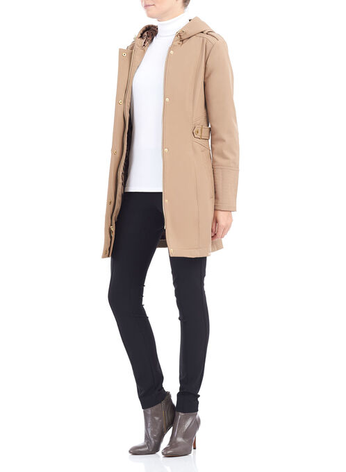 Softshell Hooded Jacket, Brown, hi-res
