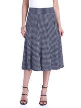 Dot Print A-Line Midi Skirt, Blue, hi-res