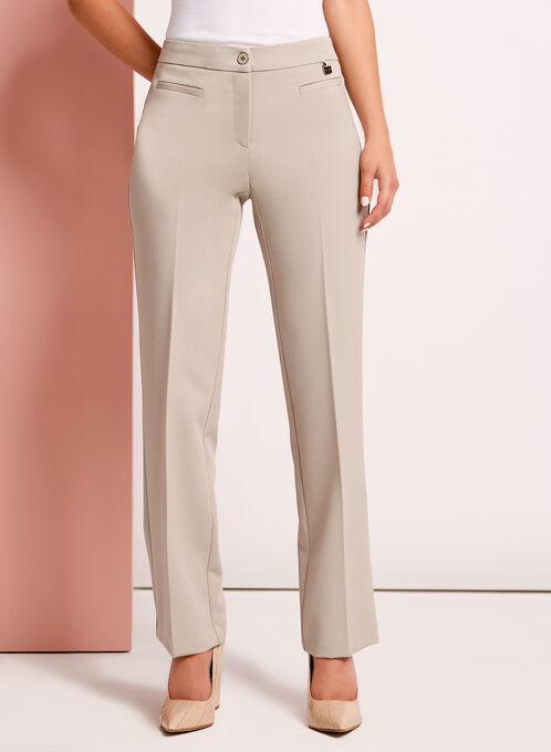 Modern Fit Straight Leg Pants, Grey, hi-res