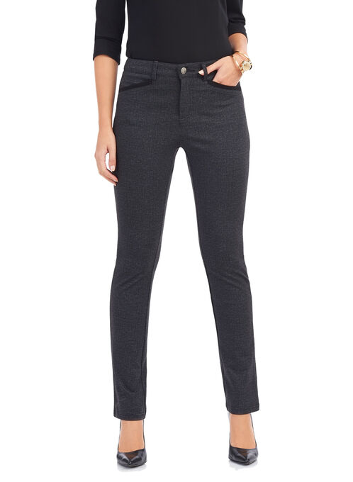 Simon Chang Straight Leg Pants , Black, hi-res