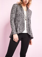 Heather Knit Open Front Cardigan, , hi-res