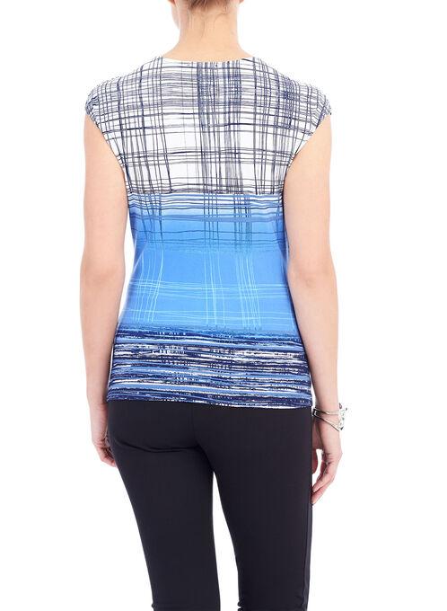 Sleeveless Wrap Detail Top, Blue, hi-res