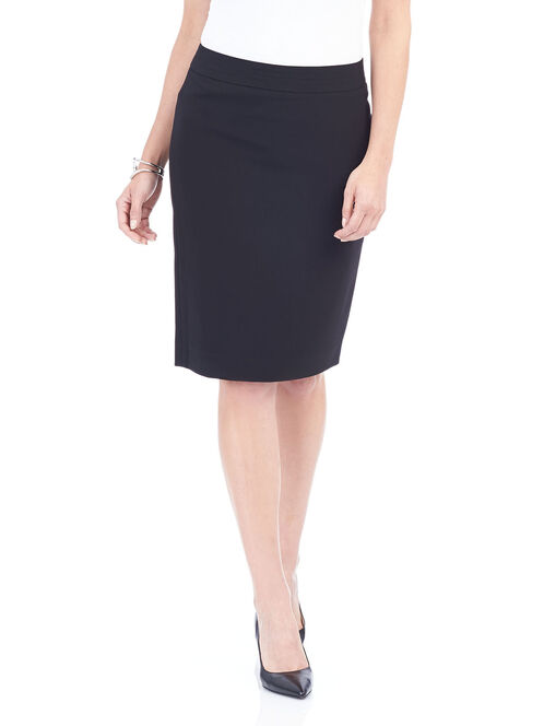 Seam Detail Pencil Skirt , Black, hi-res