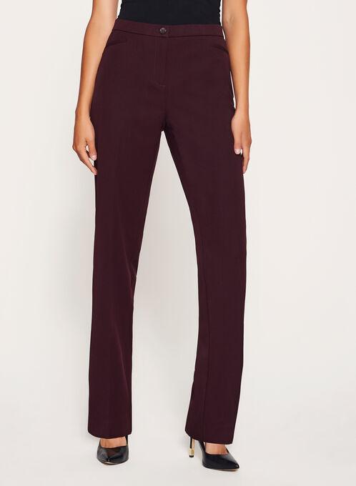 Signature Fit Straight Leg Pants, Purple, hi-res