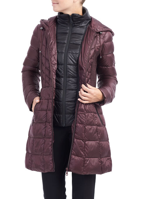 B by Bernardo Packable Jacket, Purple, hi-res