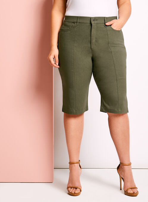 Simon Chang Microtwill Bermuda Shorts, Green, hi-res