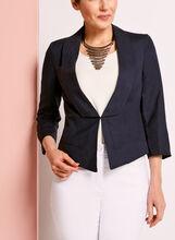 3/4 Sleeve Linen Blazer, , hi-res