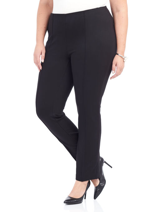 Ponte Slim Leg Pants , Black, hi-res