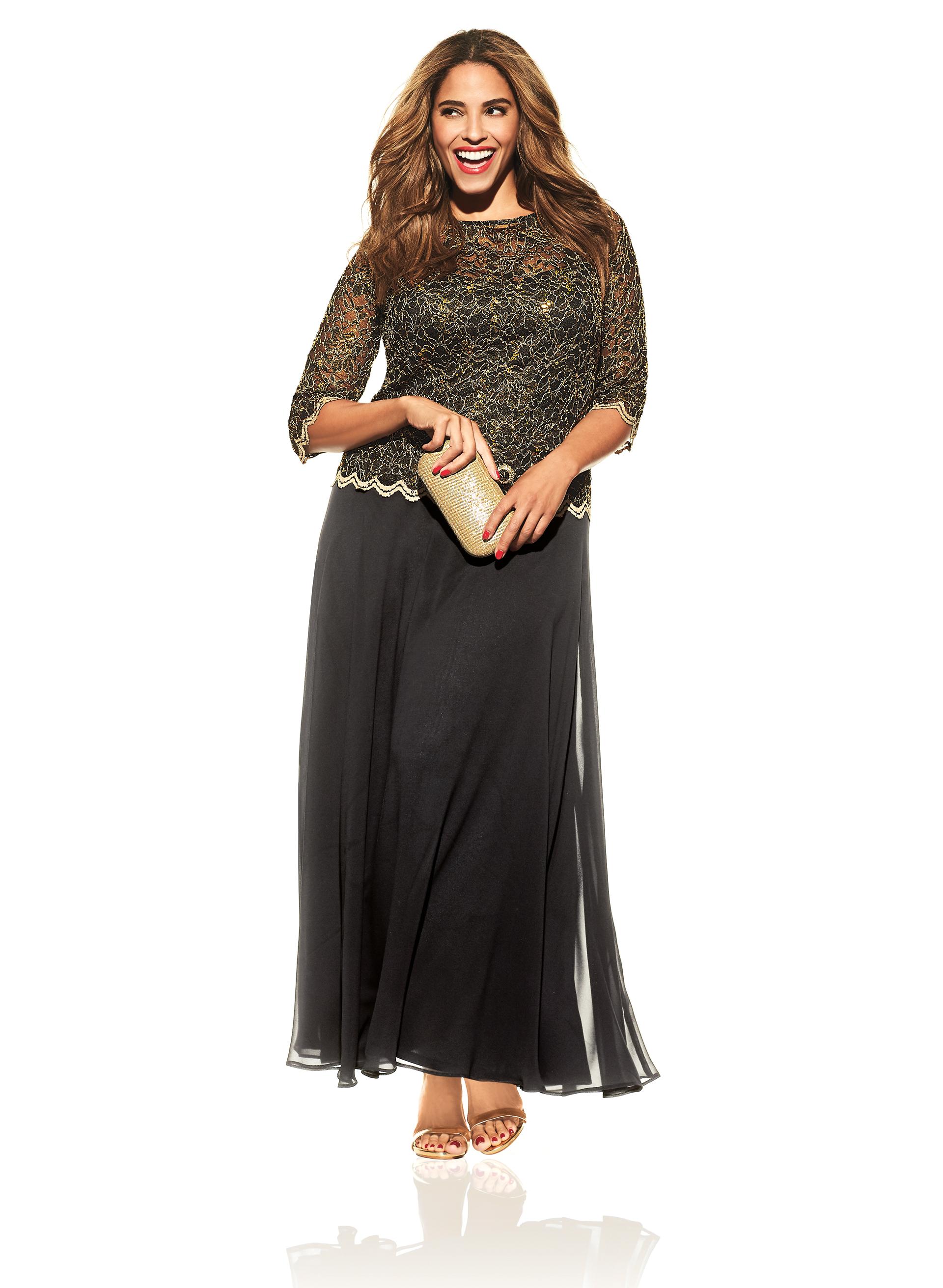robe longue avec dentelle en paillettes livraison. Black Bedroom Furniture Sets. Home Design Ideas