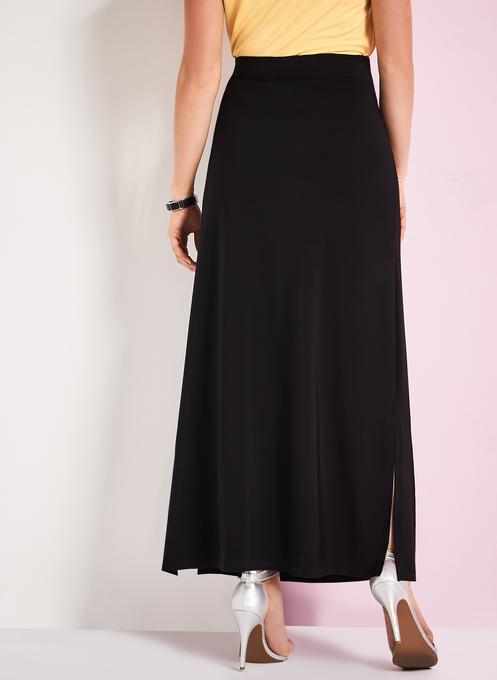 side slit detail maxi skirt free shipping
