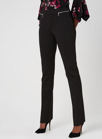 Pantalon coupe moderne à jambe droite , Noir, hi-res