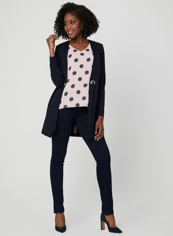Polka Dot Print Sleeveless Top, Multi, hi-res