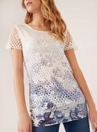 Vex - Haut en crochet à motif abstrait, Bleu, hi-res